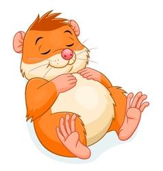 Sleeping hamster vector