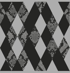 Snakeskin reptile geometric seamless pattern vector