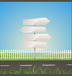 Spring or summer road with white arrow signs vector