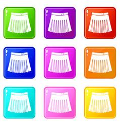 Tennis female skirt set 9 vector