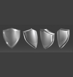 transparent shield protective glass shields vector image