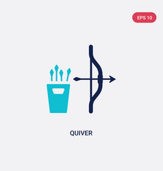 two color quiver icon from asian concept isolated vector image
