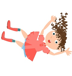 falling girl rabbit hole vector image