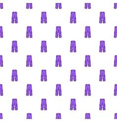 Men sport pants pattern cartoon style vector image vector image