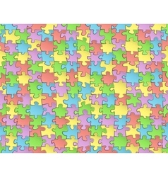 Seamless pattern jigsaw puzzles vector image