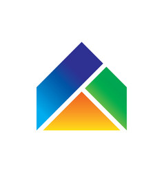 abstract roof triangle business logo vector image