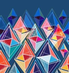 bright seamless abstract pattern of polygons vector image