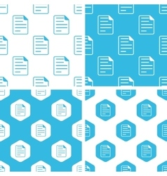 Document page patterns set vector image