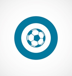 football ball bold blue border circle icon vector image