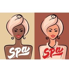 happy spa wooman vector image