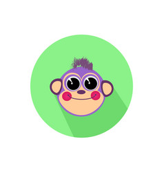icon monkey smiling isolated on white background vector image vector image