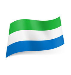 national flag of sierra leone green white and vector image