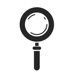 black silhouette of magnifying glass icon vector image