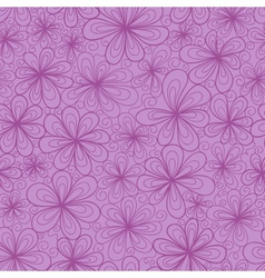 Stylized doodle flowers vector image