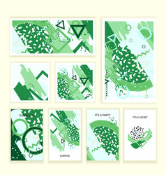 universal abstract posters and cards set vector image vector image