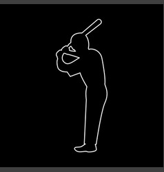 ballplayer the white path icon vector image vector image
