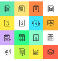 business documents finance simple icon vector image