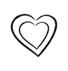 hand drawing heart health icon vector image