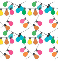 holidqays lights festive decorations set vector image vector image