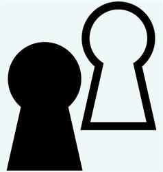 Keyhole symbol vector