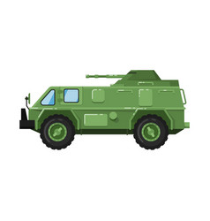modern army truck isolated icon vector image
