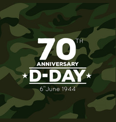 70th anniversary d-day icon vector image