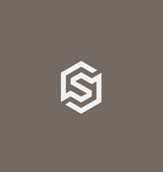 abstract letter s logo icon design modern vector image