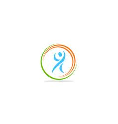 Active people logo vector