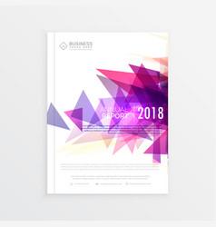 Annual report brochure template design vector