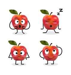 Apple cartoon character vector