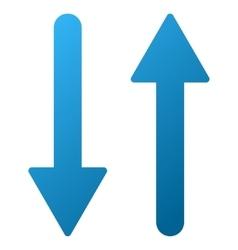Arrows Exchange Vertical Gradient Icon vector