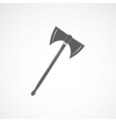 Axe with two sharp blades vector image