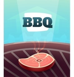 Barbecue BBQ Party invitation card vector