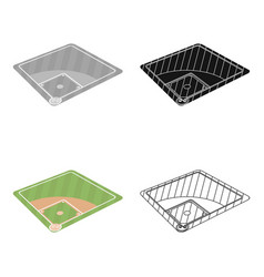 Baseball court baseball single icon in cartoon vector