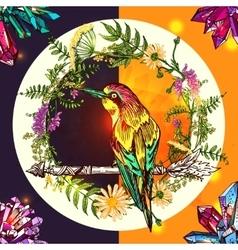 Bird and arrow vector