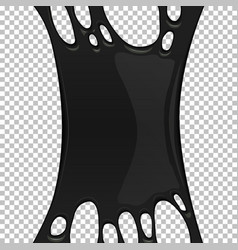 Black sticky slime banner with copy space vector