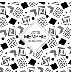 black white memphis backgrounds vector image