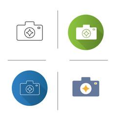 Camera enhance icon vector