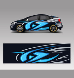 car decal graphic abstract racing designs vector image