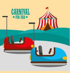 carnival fun fair vector image
