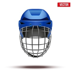 Classic blue Goalkeeper Ice Hockey Helmet isolated vector image