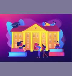 college campus concept vector image