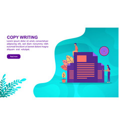 copy writing concept with character template for vector image
