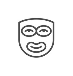 cosmetic face mask line outline icon vector image
