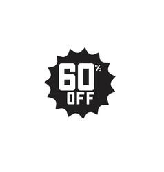 Discount 60 off label template design vector