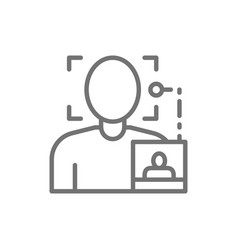 Face search photo biometric identification vector