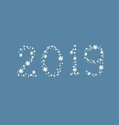 figures 2019 new year greeting card vector image