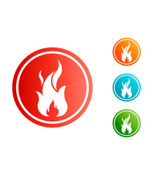 fire flame with negative space set vector image