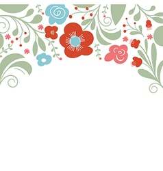 Floral design place for text vector
