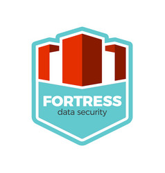 fortress logo concept vector image